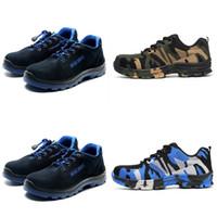 bottes de sécurité militaires achat en gros de-Weweya Man Big Taille Piercing Outdoor Chaussures Hommes Bottes en acier Toe Cap travail Sécurité militaire camouflage Crevaison Indestructible Chaussures