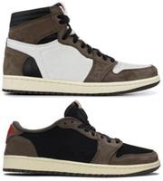 erkekler için en iyi ayakkabılar toptan satış-En iyi Kalite 1 Yüksek OG Travis Scotts Kaktüs Jack Süet Koyu Mocha TS SP 3 M Basketbol Ayakkabıları Erkek Kadın 1 s Düşük Travis Scotts K ...