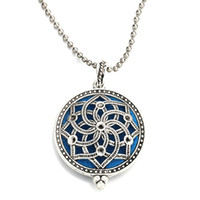Wholesale aromatherapy scent diffuser resale online - MODKISR mm High Quality Hot Magnetic Aromatherapy Diffuser Jewelry Star Locket Pendant Essential Oil Scent Necklace