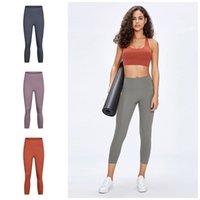 Wholesale womens tight yoga pants resale online - LU Tummy Control Yoga Pants High Elastic Waist Camo Printed Gym Tight Leggings Sport Capris Pants Of Womens Clothing ly E19