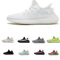 nuevos zapatos largos al por mayor-adidas yeezy 350 V2 boost  2019 zapatillas de deporte de alta calidad nuevas zapatillas crema gris naranja rayas cebra larga negro rojo zapatillas de deporte de calidad 5-12