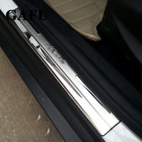 Stainless Steel Door Sill Side Scuff Plate Trim covre For Ford Escape Kuga 2012-2017 2GEN Car accessories