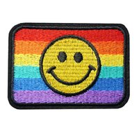 c48bc5ce3 Wholesale smiley face t shirt for sale - 7CM Rainbow Smiley Face  Embroidered Patches Sew Iron