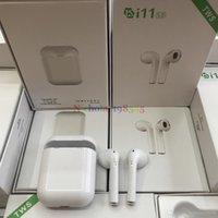ingrosso gioco di mora-I11 TWS Mini In Ear Wireless Bluetooth 5.0 Auricolare Earbud Dual Call Ear Doppia musica Play Stereo Cheaper I11 Con chiave per IOS Android Phone
