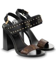 ingrosso sandali in cotone marrone-1a3mog Nomad Sandal 10 Cm Fashion New Brown Black Nuovi tacchi alti Donna Tacchi alti Lolita pumps Scarpe Sneakers Dress Shoes