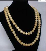 Wholesale tibet jade stone for sale - Group buy necklace N1729 Tibet Light Yellow Jade Stone Beads Buddhism Buddha Prayer Mala Necklace Discount