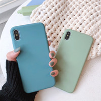 Wholesale cute couple cases for iphone for sale – best LACK Solid Color Silicone Couples Cases For iphone XR X XS Max S Plus Cute Candy Color Soft Simple Fashion Phone Case NEW