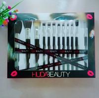pinceau de maquillage en étain achat en gros de-2019 En Gros 12 Pcs Professionnel Maquillage Cosmétique outil outils de beauté haute qualité carton boîte en étain maquillage fondation brosses ensemble