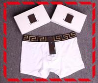 conforto da roupa interior venda por atacado-Marca internacional nova cueca boxer dos homens cuecas material de algodão essencial dos homens respirável design de roupa interior macia conforto confortável