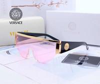 óculos de sol das mulheres da alta qualidade venda por atacado-Óculos de sol designer de óculos de sol óculos de marca designer de luxo para homens das mulheres óculos adumbral uv400 v0019 6 cores de alta qualidade com caixa