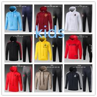 Wholesale children hooded tracksuits for sale - Hooded RONALDO Kids Soccer tracksuit Jacket Marseille Real Madrid Bayern Munich Kids Hoodie Tracksuit Jacket mbappe child Hoodie kit