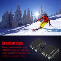 Wholesale fiber optical audio resale online - 3G SDI LC Fiber Optical Converter Video Audio Transmitter Receiver P HD Display US EU Plug Optional