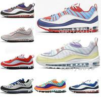 2020 Mens Designer Running Shoes 98s OG Sky Blue Gundam Triple s Black White Cone Tour Vibrant Men Women Sports Trainers Sneakers 36 46
