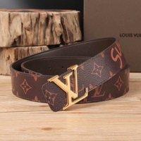 Wholesale western men belts resale online - Western Rhinestone Leopard Head Buckle Tiger Print Leather Men Belt Gift With Jeans