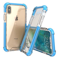 Wholesale new style cell cases online – custom 2019 new styles Four corners thickened super anti falling iphone case glass acrylic plus TPU in cell phone case iphone x xs xr xsmax