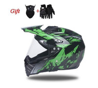Wholesale black helmet visor for sale - Group buy The man women winter motorcycle racing helmet motorcross off road helmet Dot approved helmets with visor H
