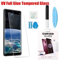 temperli gözlük samsung toptan satış-Huawei P30 Pro UV Kavisli 3D 5D Temperli Cam Ekran İnce Telefon Ön Film Için Huawei arkadaşı 20 P20 Pro P20 Lite
