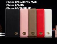 ingrosso copertine del telefono litchi-Custodia a portafoglio Custodia in pelle per cellulare Litchi Flap per iPhone Xs max X Xr 7 7plus 8 8plus 6 6plus Xs con slot per schede