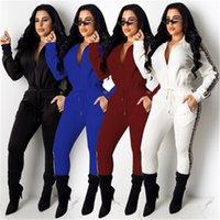 kadın kıyafetleri için ücretsiz gönderim toptan satış-Kadınlar Yeni Stil Moda Tasarımı Tracksuits Kadın Casual Açık Uzun Kollu Tracksuits Katı Renk Yüksek Kalite Giyim Ücretsiz Kargo