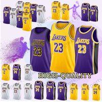 f927739ec 18 19 Los Angeles Jerseys Lakers 23 LeBron James 24 Kobe Bryant 2 Lonzo  Ball 0 Kyle Kuzma 14 Brandon Ingram Jersey Adult shirt