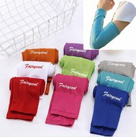 Wholesale sunscreen gloves resale online - Sunscreen Ice Silk Sleeve Cycling Sport Outdoor Arm Sleeves Unisex Long Gloves Sun Protection Sleeve DDA40