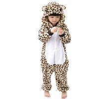 Bambini Pigiama Bambini Inverno Cosplay Leopardo Pijama infantil bambini  ragazza ragazzo Natale Pigiama Animale Bambino Tutina a23d1c070b4
