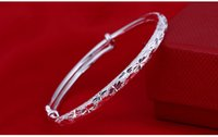 ingrosso giorni braccialetti bambino-S999 puro argento braccialetti stile braccialetto semplice respiro argento pianura gioielli DDSS712 del bambino marca di qualità superiore Day dono della mamma nuove donne