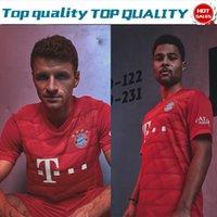 venda uniforme de camisas venda por atacado-2019 # 25 MULLER em casa Camisa de Futebol Vermelha Jersey 19/20 Personalizado # 9 LEWANDOWSKI # 17 BOATENG Bayern de Munique uniformes de Futebol À Venda