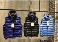 veste blanche pour vente d'hommes achat en gros de-Marque Mode vente de luxe Designer Hommes Vestes Automne New Down Vest épais Down Casual Vest hommes avec 95% de canard blanc Veste