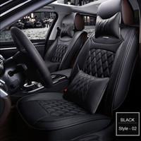 rote schwarze sitzbezüge großhandel-Autositzbezug für Audi A3 A4 B6 A6 A5 Q7 BMW Toyota Auto 5 Sitze Innenschutzkissen Autositzbezüge Universal 1 Satz