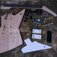 ingrosso corpi di chitarra elettrica incompiuta-Kit per chitarra elettrica Starshine DK-UEX2 Chitarra elettrica non finita in mogano