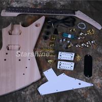 kits de guitare électrique corps acajou achat en gros de-Kits de guitare électrique Starshine DK-UEX2 Acajou Body Unfinished Guitar