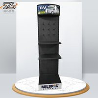 Wholesale the display stand for mobile accessories and display racks cartoon stickers with hooks and shelves with LED light
