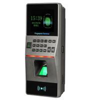 система контроля доступа к дверям отпечатков пальцев оптовых-Новый биометрический RFID 125Khz Card + Fingerprint + Password считыватель смарт-карт Anti-remove Alarm Time Attendance For Door Access Control System F16