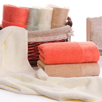 Wholesale manufacturer bamboo for sale - Group buy Manufacturers spot bamboo fiber towel g thick soft absorbent men and women wash face towel textile