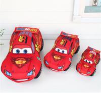 ingrosso i migliori bambini giocano le automobili-Red Cars Kids Stuffed Toys 35cm Morbidi giocattoli di peluche Cute Cartoon Cars giocattoli di peluche I migliori regali per i bambini
