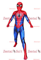 Wholesale zentai hero cosplay for sale - Spider Man Costume All New Spiderman Superhero Costumes D Printed Spandex Halloween Cosplay Zentai Suit For Adult Kids