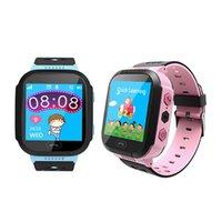 ingrosso ragazza gp-I bambini delle ragazze dei ragazzi regalo anti-perso di posizionamento Bambini astuti Guarda Touchscreen SOS GPS orologio da polso per Android Phone
