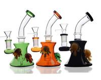 ingrosso tazze colorate-I più recenti Bong in vetro di Cheech Mini tubi di acqua colorata 14mm Honey Cup Riciclare impianti di rifornimento di olio Heady Glass Pipes Narghilè