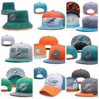 Wholesale sticker lavender for sale - Group buy Miami Embroidery hat Dolphins Teams Logo Women snapback hats outdoors sports cap hockey caps come with stickers