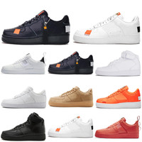 ingrosso forze aeree gialle-Nike Air Force 1 forces shoes one Designer Scarpe casual da uomo donna Skateboarding High Low Cut Triple Bianco Nero Wheat Red Orange Mens Trainer Sport Sneakers 36-45