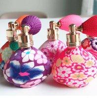 atomizer sprey parfüm şişeleri toptan satış-Hava yastığı Parfüm Şişesi 15 ml Üçgen Yumuşak kil Boş Hava Sprey Parfüm Şişesi Seyahat Doldurulabilir Atomizatör Sprey Gasbag Püskürtücü GGA2222