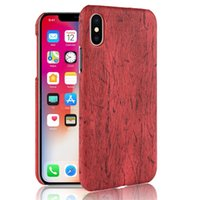 Wholesale plastic wood phone case for sale - Group buy Wood Grain PU Leather Phone Case For Iphone X XR XS MAX Hard PC Back Cover For Iphone Plus