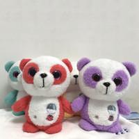 osos de peluche al por mayor-4 unids / lote 20 cm Ty osito de peluche juguetes de peluche regular suave de ojos grandes Ty Yumi el Panda relleno peluche juguetes regalos para niños