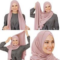 arab scarf venda por atacado-2019 Moda Feminina Pronto Para Vestir Instantâneo Hijab Cachecol Muçulmano Interior Sob o Lenço Cap Tampa Completa Vestuário Islâmico Árabe Headwear