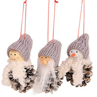 Wholesale black kids doll for sale - Group buy 3pcs set Santa Claus Snowman Ornaments Toy Dolls Door Tree Hangings Kids Gift New Year Christmas Decoration for Home zh1