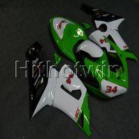ingrosso kawasaki zx 636-23 colori + regali verde bianco ZX6R 2005 2006 carenatura per Kawasaki ZX 6R 636 ZX636 05-06