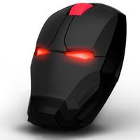 evrensel ışıklar toptan satış-Demir adam fare Iron Man kablosuz fare kişilik yaratıcı ışık enerjisi evrensel Lenovo dizüstü fare