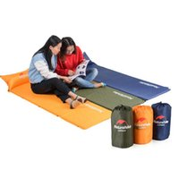 Wholesale waterproof double sleeping bag resale online - Sleeping Mattress Self Inflating Pad Portable Bed with Pillow Camping Outdoor Activity Waterproof Sleeping Bags ZZA727