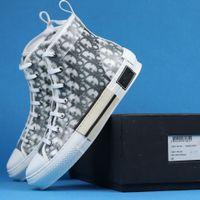 Wholesale Mit Box New Gao Bang Blumen Technische Segeltuchschuhe High Top Oblique Freizeitschuhe M Mens Frauen Luxus Designer Schuhe